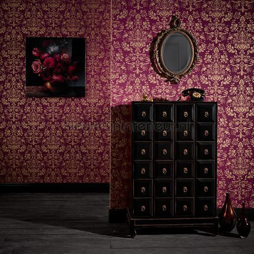 kyasha cranberry pink wallcovering 293003 baroque Arthouse