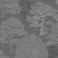 meili gunmetal silver carta da parati Arthouse Eastern Alchemy 293007