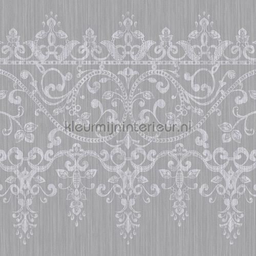 kyasha frieze border silver wallcovering 293208 baroque Arthouse