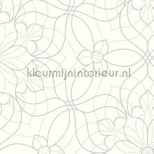 Liniare bloemen Venus papier peint Dutch Wallcoverings Eclipse FD23847