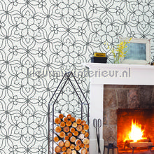 Liniare bloemen Venus behang Dutch Wallcoverings Grafisch Abstract