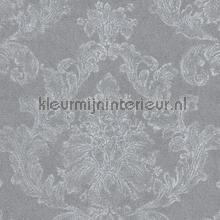 Zacht klassiek ornament linnenlook grijs papel pintado AS Creation Elegance 3 305184