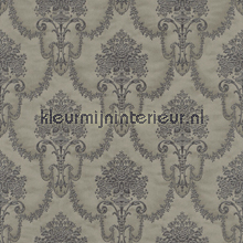 Floral bouquet damask antracite behang Rasch Elegance and Tradition VI 514933