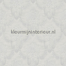 Floral bouquet damask light grey behang Rasch Elegance and Tradition VI 514940
