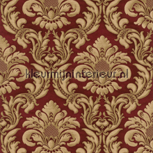 Traditional damask red papel de parede Rasch Elegance and Tradition VI 515008