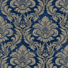 Traditional damask royal blue papel de parede Rasch Elegance and Tradition VI 515053