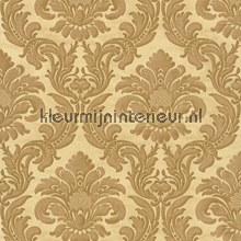 Traditional damask gold carta da parati Rasch Elegance and Tradition VI 515060