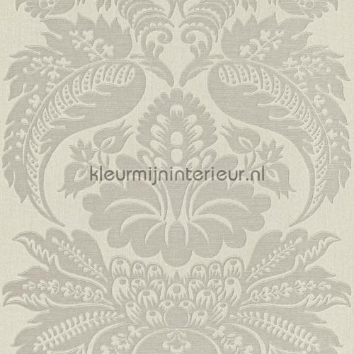Large damask light grey carta da parati 515244 Elegance and Tradition VI Rasch