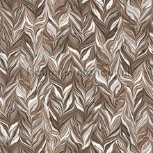 Miller brun chocolat papel de parede Casamance Ellington 73890204