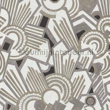 Atmos gris perle papel de parede Casamance Ellington 73910118