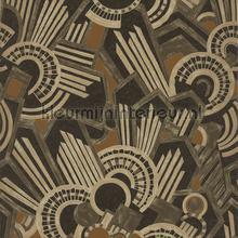 Atmos brun tabac papel de parede Casamance Ellington 73910322