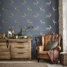 Evesham deer wallcovering Sanderson Vintage- Old wallpaper
