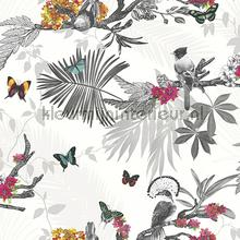 Mystical Forest White Multi carta da parati Arthouse Enchantment 664802