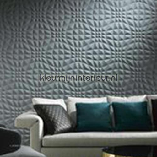 Flex 3D grafisch patroon donkerblauw behang 30502 Enigma Arte