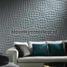 Flex 3D grafisch patroon blauwgrijs tapet Arte Enigma 30500