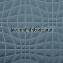 Flex 3D grafisch patroon blauwgrijs papel pintado Arte Enigma 30500