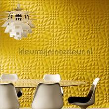 Flex 3D grafisch patroon geel behang 30503 Enigma Arte