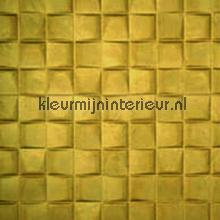 Select 3D blok suedelook mosterdgeel papel pintado Arte Enigma 30521