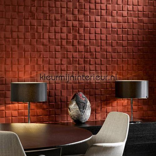 select 3d blok suedelook rood bruin