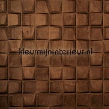 Select 3D blok suedelook bruin papel pintado Arte Enigma 30523