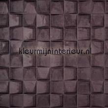 Select 3D blok suedelook aubergine papel pintado Arte Enigma 30525
