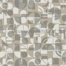 Segments Slate-Chalk behang Harlequin retro