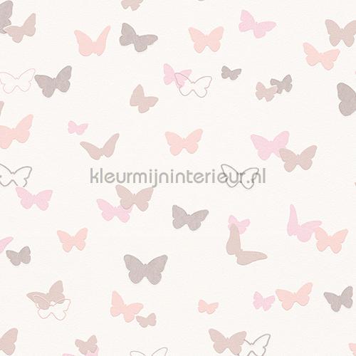Esprit vlinders pastel roze gordijnstof 4306-04 gordijnen Esprit ...