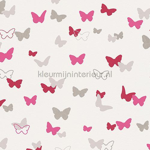 Esprit vlinders fuchsia 302892 behang Esprit Kids 4 van AS Creation ...
