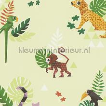 Esprit jungle dieren origami groen tapeten AS Creation Esprit Kids 4 303033