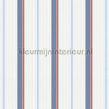 Bouwstrepen blauw rood papel de parede AS Creation Esprit Kids 5 357072