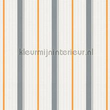 Bouwstrepen oranje grijs papel de parede AS Creation Esprit Kids 5 357073