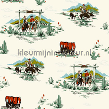 Cowboys and rangers papier peint Esta for Kids Everybody Bonjour 137-128-717