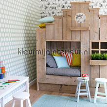 In de jungle met stip behang Esta for Kids meisjes