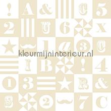 Cijfers en letters papier peint Esta for Kids Everybody Bonjour 137-138-727