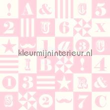 Cijfers en letters papier peint Esta for Kids Everybody Bonjour 137-138-728