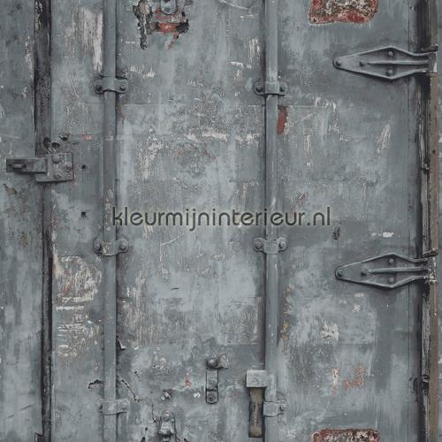 Fabulous Stalen deuren EW3202 behang Exposed Warehouse Dutch Wallcoverings  FT22