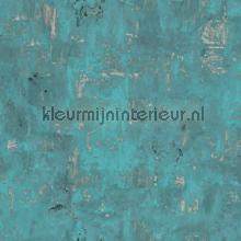 Verweerd staal turquoise carta da parati Dutch Wallcoverings Exposed Warehouse EW3501