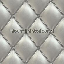 Gecapitoneerd zilvergrijs pe 01 03 2 behang exposed dutch wallcoverings - Zilvergrijs behang ...