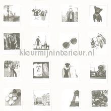 Polaroid foto zwart wit papier peint Esta home Fab 142-138-844