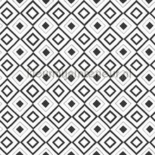 Diagonaal ruitje zwart wit papier peint Esta home Fab 142-138-863