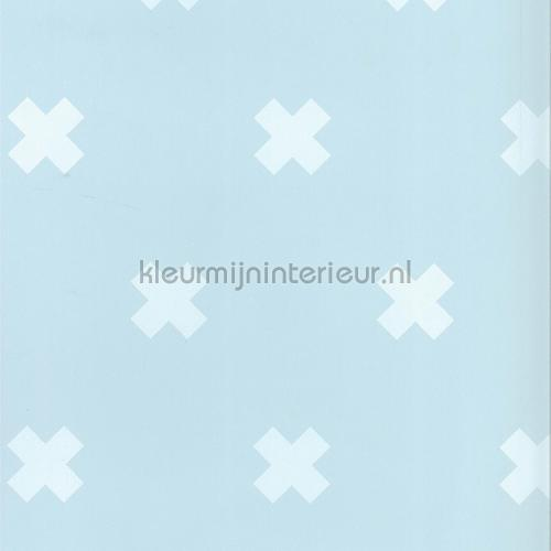 Baby Blauw Behang.Kruisjes Blauw 67104 4 Behang Fabulous World Noordwand