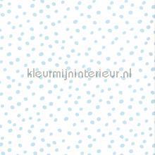 Stipjes wit lichtblauw behang Noordwand Baby Peuter