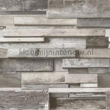 3d Houten relief wand rustiek behang Hookedonwalls Landelijk Cottage