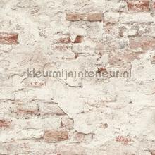 Bakstenen met oude stuclaag wallcovering Rasch Factory III 939309