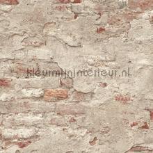 Bakstenen met oude stuclaag wallcovering Rasch Factory III 939323