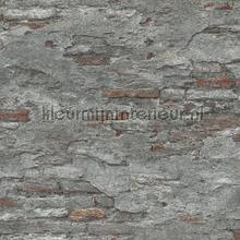 Bakstenen met oude stuclaag wallcovering Rasch Factory III 939330