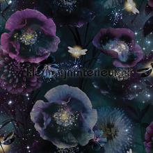 Nocturnal purple teal papel pintado Arthouse adolescente