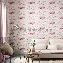Anastasia pink behang Arthouse romantisch