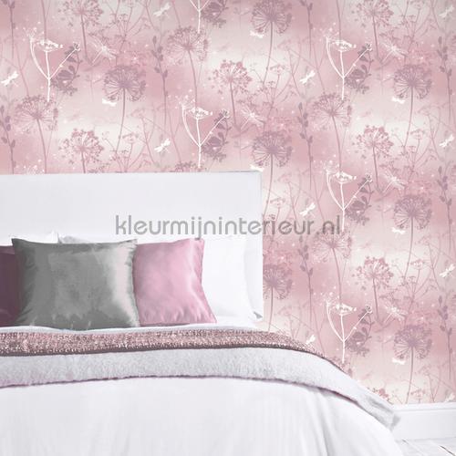 damselfly blush papel pintado 692305 niñas Arthouse