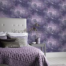 Damselfly purple behang Arthouse romantisch